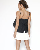 black strappy tie-up back shirt cami