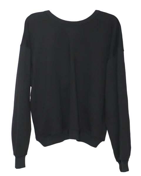 black cutout back sweatshirt with gold chain *pre-order*