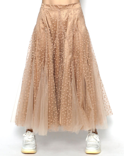 nude hearts mesh layers skirt *pre-order*