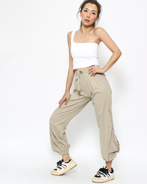 beige mesh sides sports joggers *pre-order*