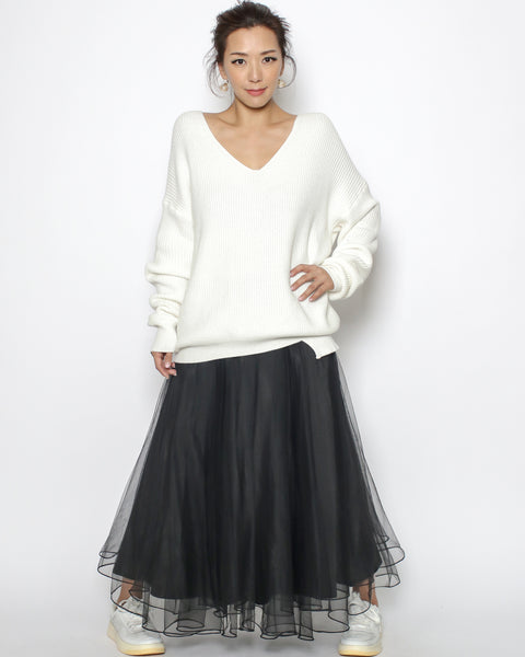black mesh layers skirt *pre-order*