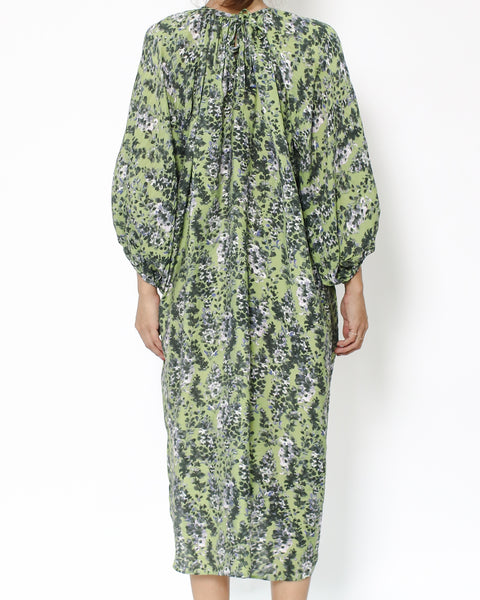 green floral soft shirt longline dress *pre-order*