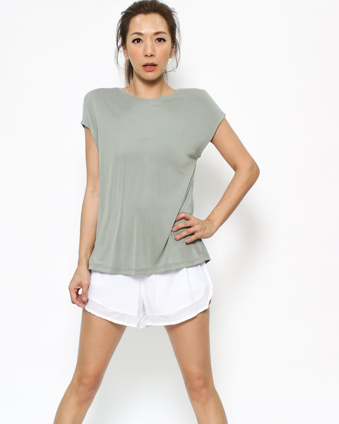 green ruched back tee *pre-order*