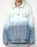washed denim blue ombre jacket *pre-order*