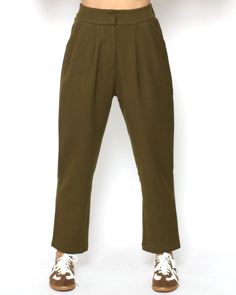 dark olive green tapered pants *pre-order*
