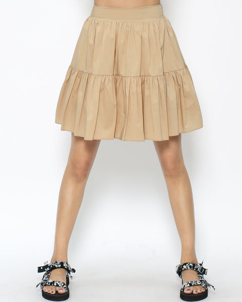 camel pleats skirt *pre-order*