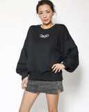black sweatshirt with silver chain *pre-order*