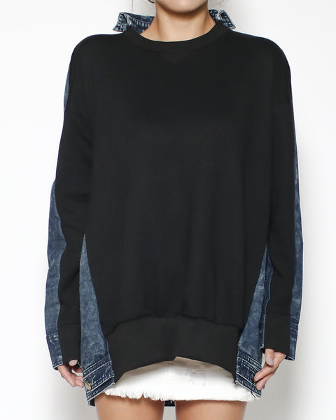 black sweatshirt & denim back *pre-order*