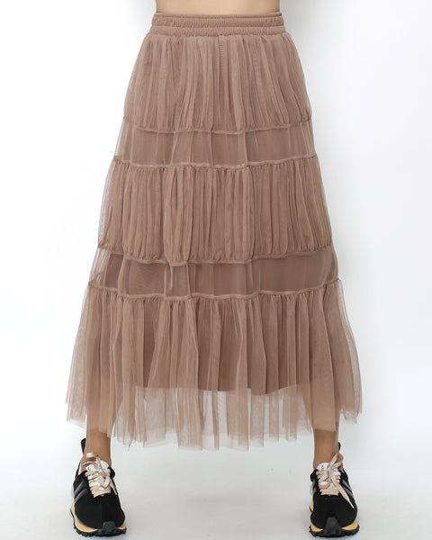 light brown mesh skirt