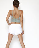 pale green strappy back sporty bra *pre-order*