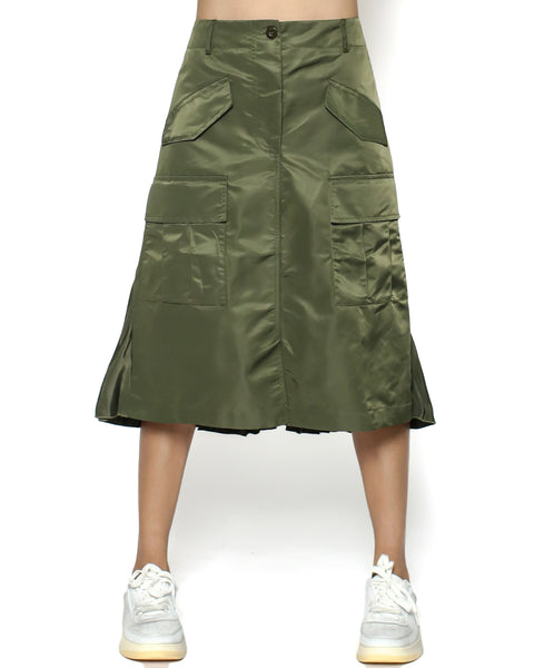 green technic pleats back skirt *pre-order*