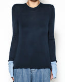 navy & blue sleeves knitted top *pre-order*
