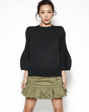 black knitted basic top *pre-order*