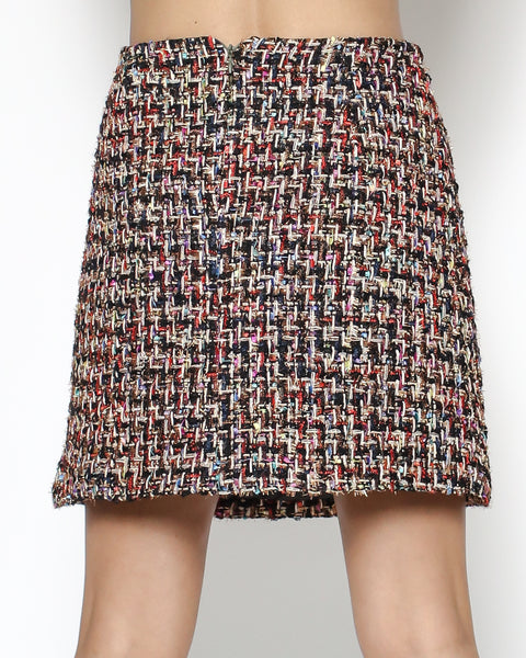 red tweed skirt *pre-order*