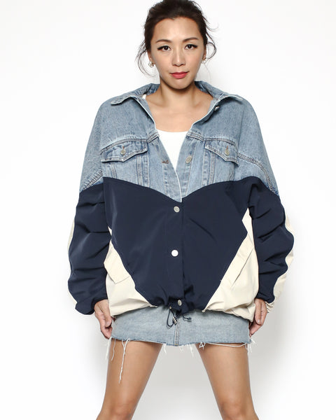denim & navy ivory jacket *pre-order*
