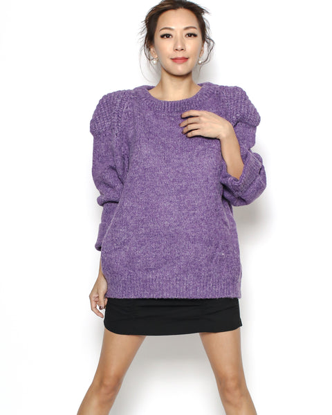 purple knitted top *pre-order*
