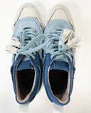ivory with navy & blue contrast tassels sneakers *pre-order*