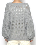grey net knitted top *pre-order*