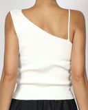 ivory knitted strappy vest