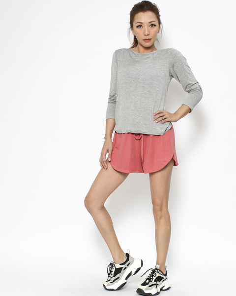 coral jersey sporty shorts  *pre-order*