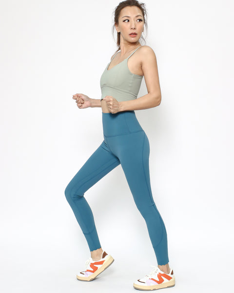 turquoise scallop hem ankle leggings *pre-order*