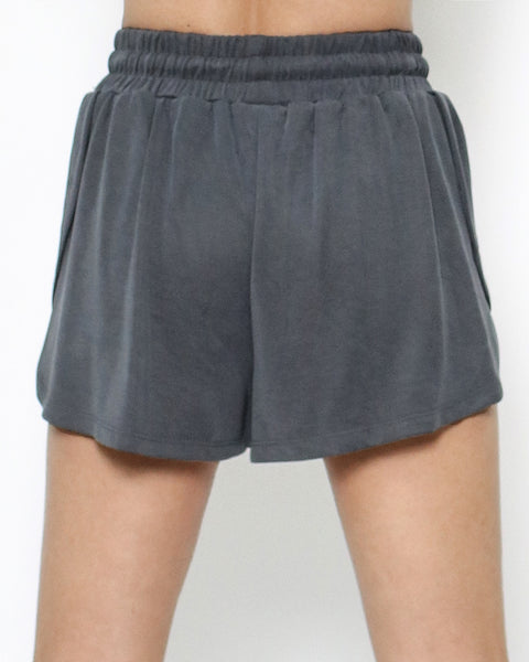 charcoal grey jersey sporty shorts  *pre-order*