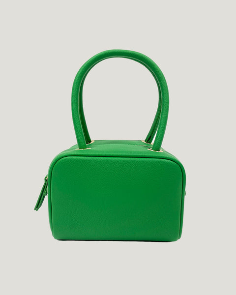 green PU leather handle bag *pre-order*
