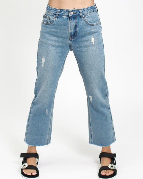 denim straight legs cropped jeans *pre-order*