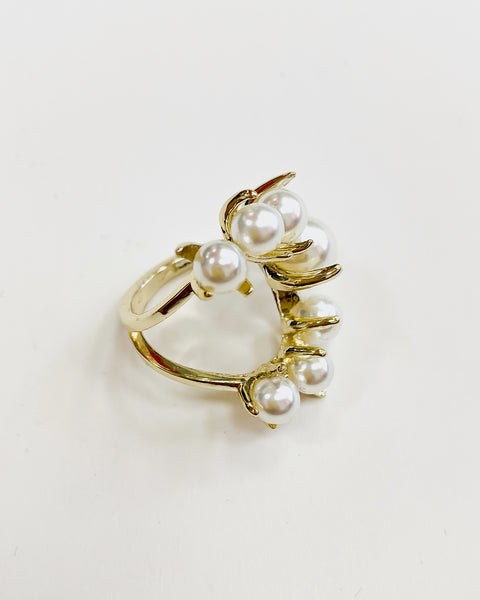 pearls gold open ring *pre-order*