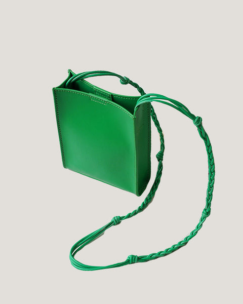 green leather string box bag *pre-order*