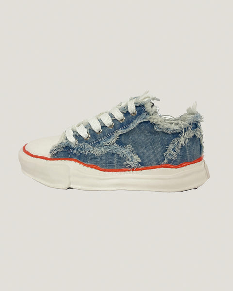ripped light denim chunkcy sneakers *pre-order*