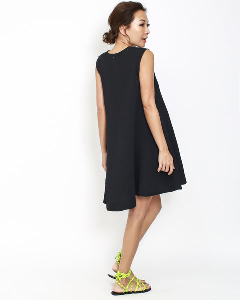 black texture summer dress *pre-order*