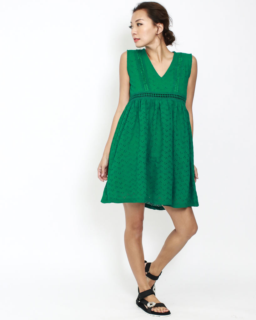 Green Crochet Summer Dress Stylegal