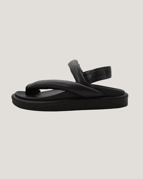 black PU leather strappy sandals *pre-order*
