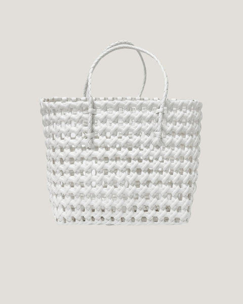 white PVC caged bucket bag *pre-order*