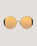 gold mirror round sunglasses