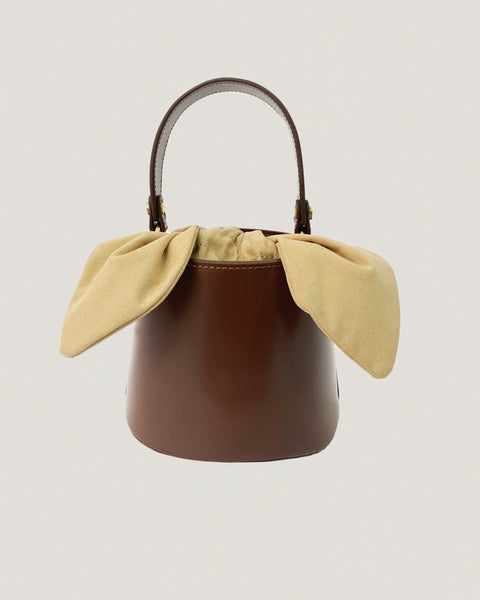 brown leather bucket bag *pre-order*