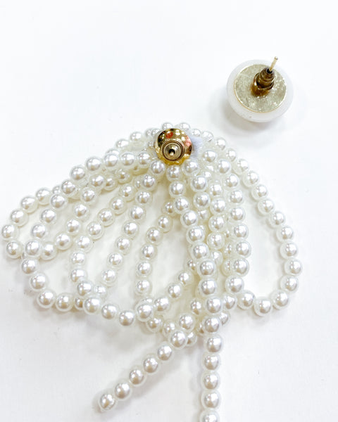 pearls asymmetric earrings *pre-order*