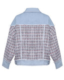 denim & tweed contrast jacket *pre-order*
