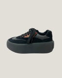 black & brown flatform sneakers *pre-order*