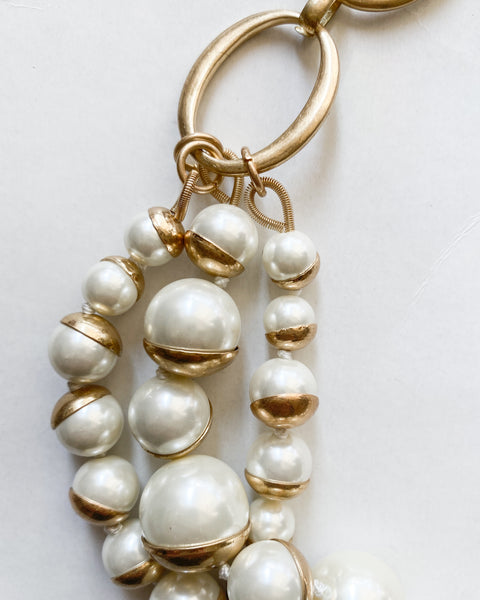 gold layers pearls necklace *pre-order*