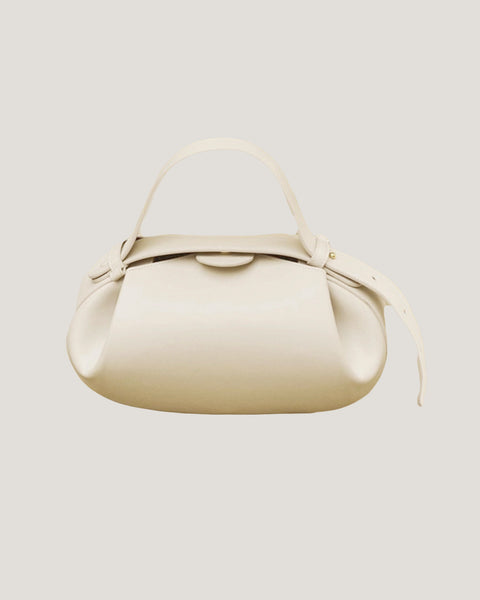 ivory PU leather handle bag *pre-order*