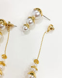 gold pearls chain earrings *pre-order*