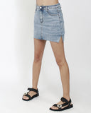 washed denim mini skort *pre-order*
