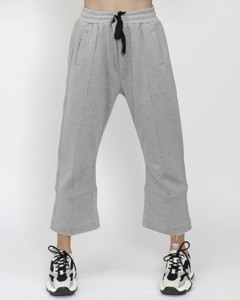 grey cropped sweat pants *pre-order*
