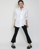 ivory gold button front shirt *pre-order*