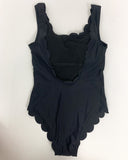 black scallop hem U back one piece swimwear *pre-order*