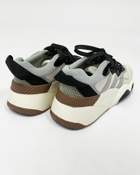 Ivory with blue leather sneakers *pre-order*