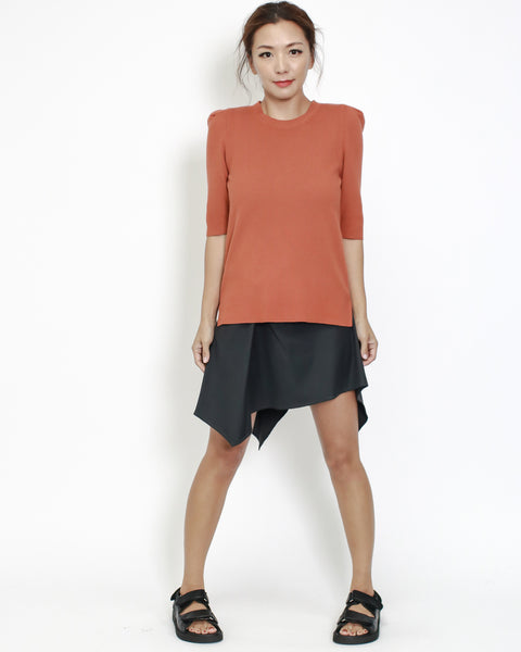 dark grey asymmetric shirt skirt *pre-order*