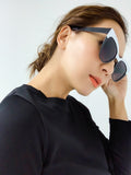 black & white contrast cat eye sunglasses